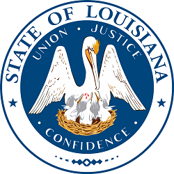 The official state seal of Louisiana.