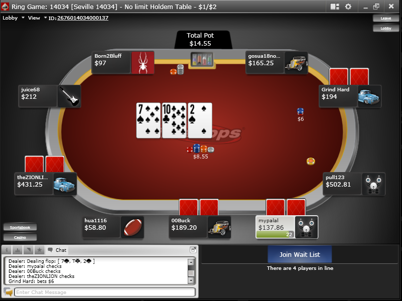 Intertops Poker Screenshot