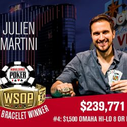Julien Martini and William Reymond Snag WSOP Gold on Sunday