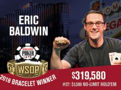 Eric Baldwin Headlines Four WSOP Bracelet Winners on Thursday