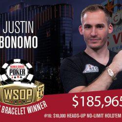 Justin Bonomo Wins WSOP $10k Heads-Up NL Hold'em Championship
