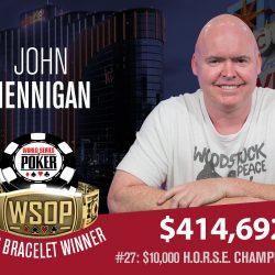 John Hennigan Wins WSOP HORSE Championship
