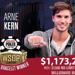 Arne Kern Wins 2018 WSOP Millionaire Maker and $1.17M