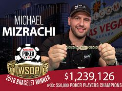 Michael Mizrachi Wins His Third WSOP $50,000 Poker Player's Championshp
