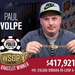 Paul Volpe Defeats Eli Elezra to Win WSOP $10k Omaha Hi-Lo Championship