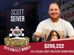Scott Seiver Wins WSOP $10k Limit Hold'em Championship