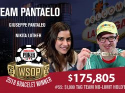 Giuseppe Pantaleo and Nikita Luther Win WSOP $1,000 NL Tag-Team Event