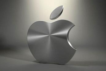 A silver Apple logo