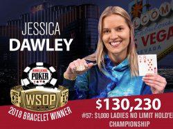 Jessica Dawley Wins WSOP Ladies Championship – Calvin Anderson Wins Razz Championship