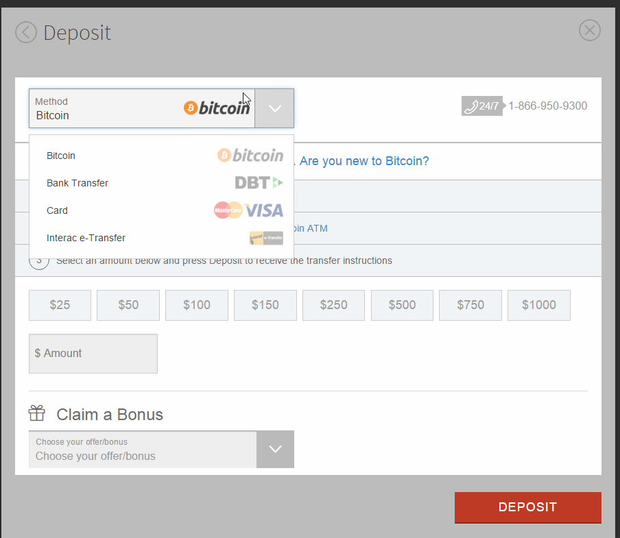 Bitcoin Poker Deposits