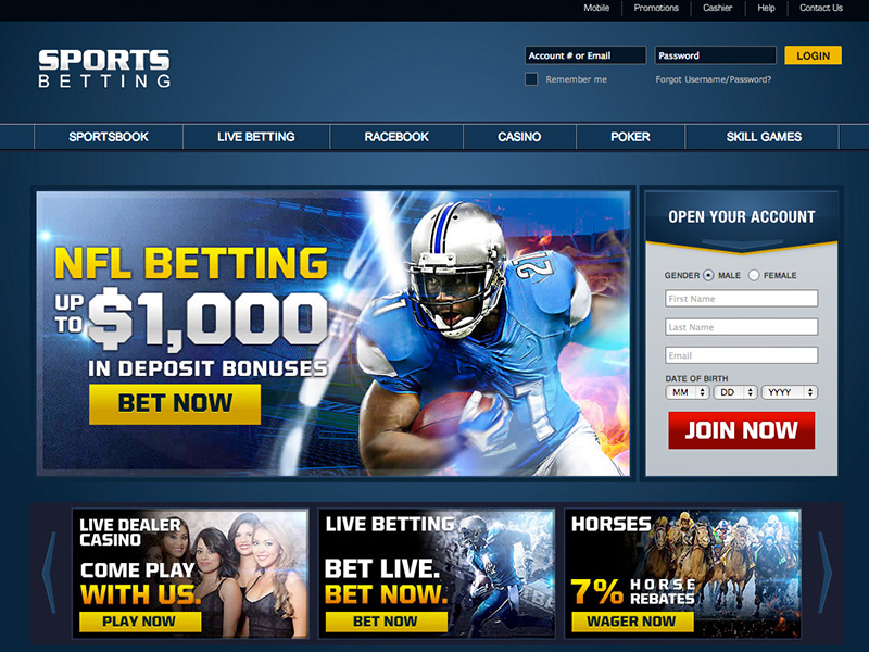 Sportsbetting.ag Screenshot