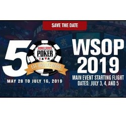 WSOP to Host First 50 Honors on June 29