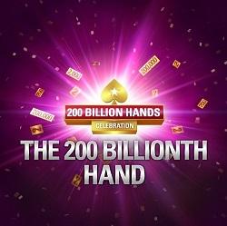 PokerStars Prepares Promos for 200 Billionth Hand Milestone