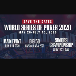WSOP Sets Dates for 2020 Series in Las Vegas