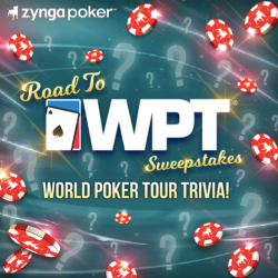 Zynga Poker Partners with WPT for Sweepstakes