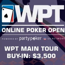 WPT Online Poker Open Heads to Jersey with PartyPoker